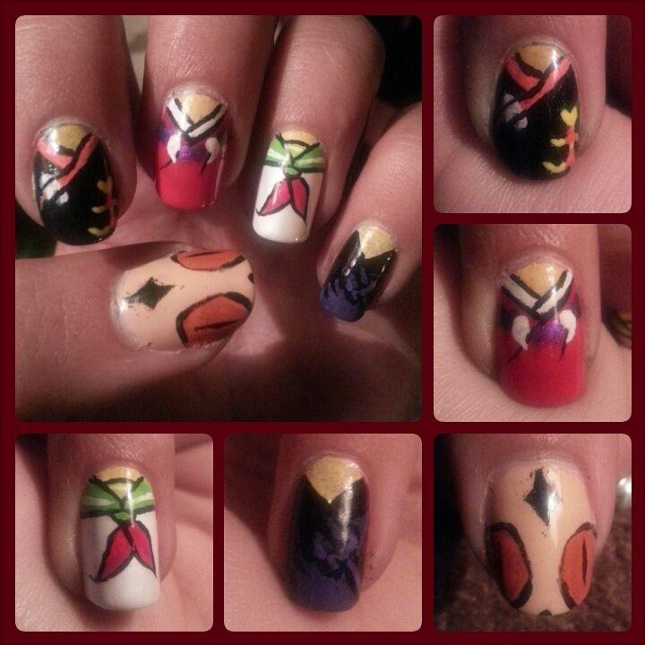Inuyasha Nail Art by animalabbie76.deviantart.com on @deviantART ...
