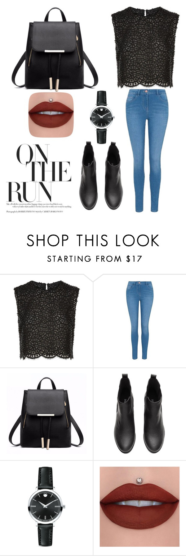 """""""On the run"""" by luci-fashionforever ❤ liked on Polyvore featuring Costarellos, George and Movado"""