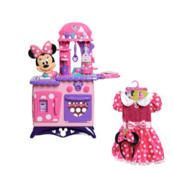 Disney Mickey Mouse Friends Minnie Mouse Bow Tique Flipping Fun Kitchen Dress Gift Set Minnie Mouse Toys Minnie Minnie Mouse Bow