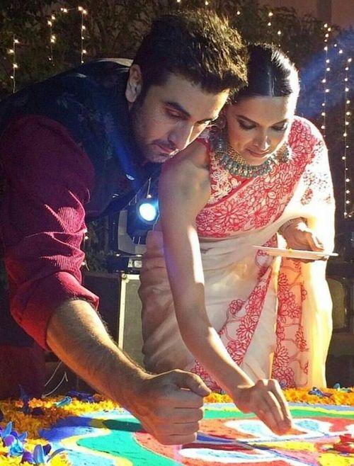 Diwali Deepika Padukone And Ranbir Kapoor Deepika Padukone Bollywood Celebrities Bollywood Actress