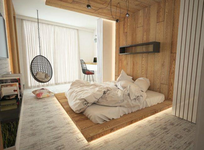 beleuchtung-schlafzimmer-inspiration-decke-fussboden-licht - beleuchtung für schlafzimmer