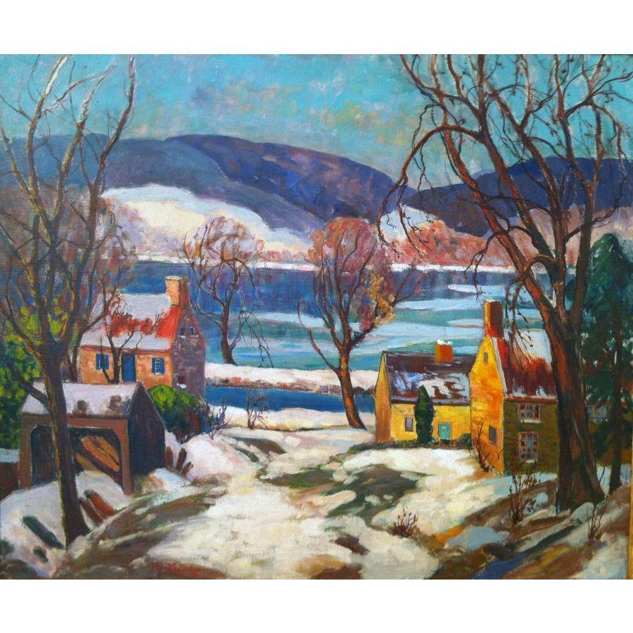 Fern Isabel Coppedge American 1883 1951 The Delaware In Lumberville Fine Art Painting Landscape Art Happy Art