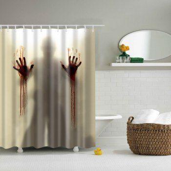 Scary Shadow Bathroom Mildewproof Waterproof Shower Curtain