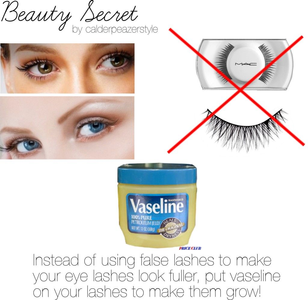 putting vaseline on your eyelashes will not make them longer. that's
