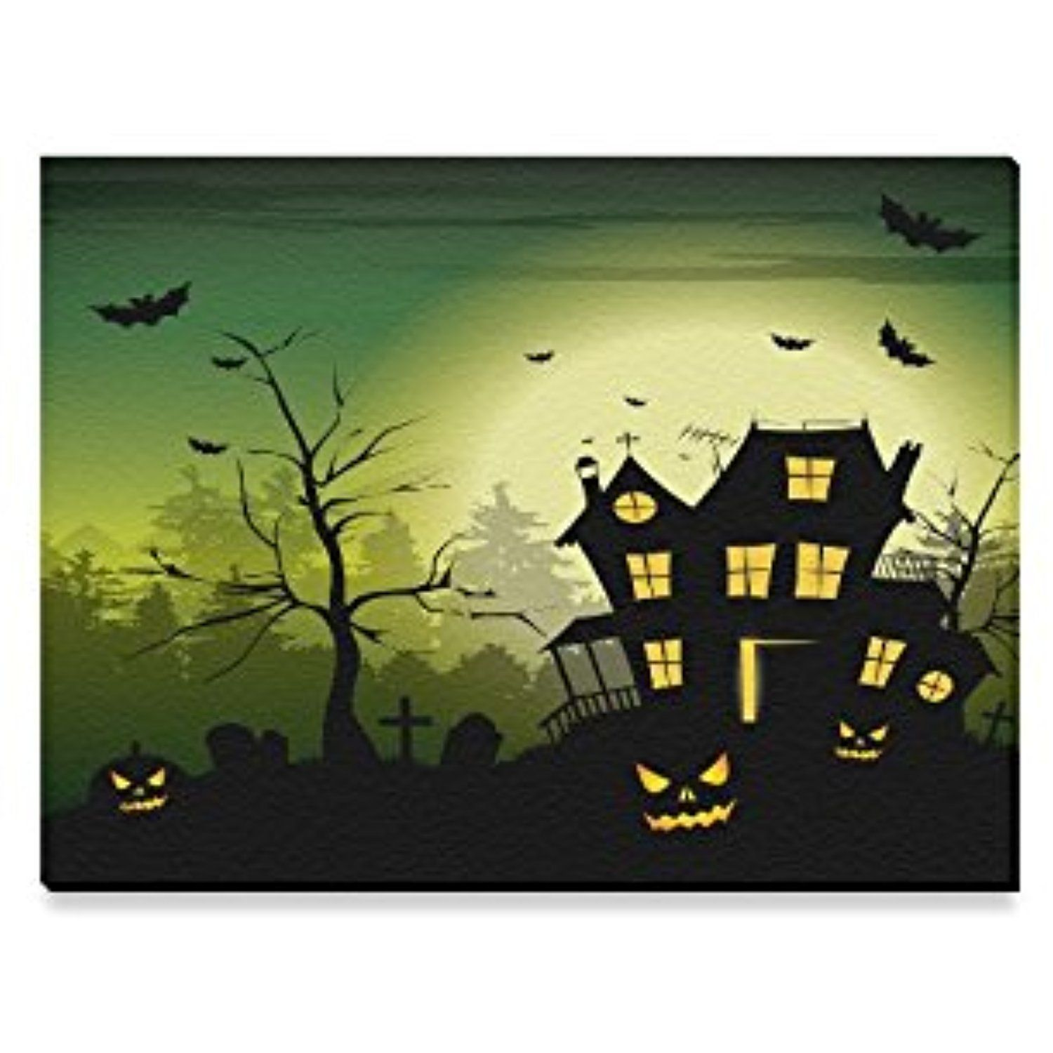 Canvas Print Happy Halloween\'s Day Gifts Modern Wall Art for Home ...