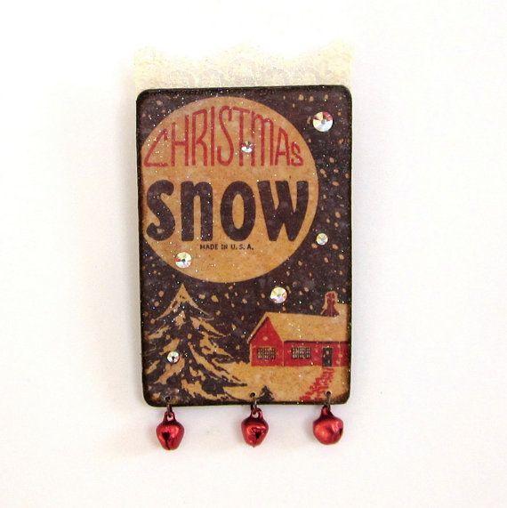 Retro Christmas Magnet Refrigerator Magnet Vintage Advertising