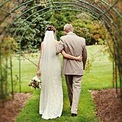 under wedding arch