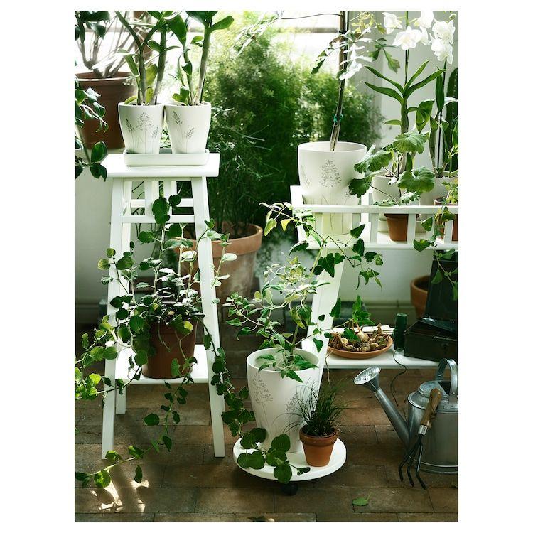 Lantliv Plant Stand White Length 12 Ikea In 2020 Ikea Plants Plants Indoor Plants