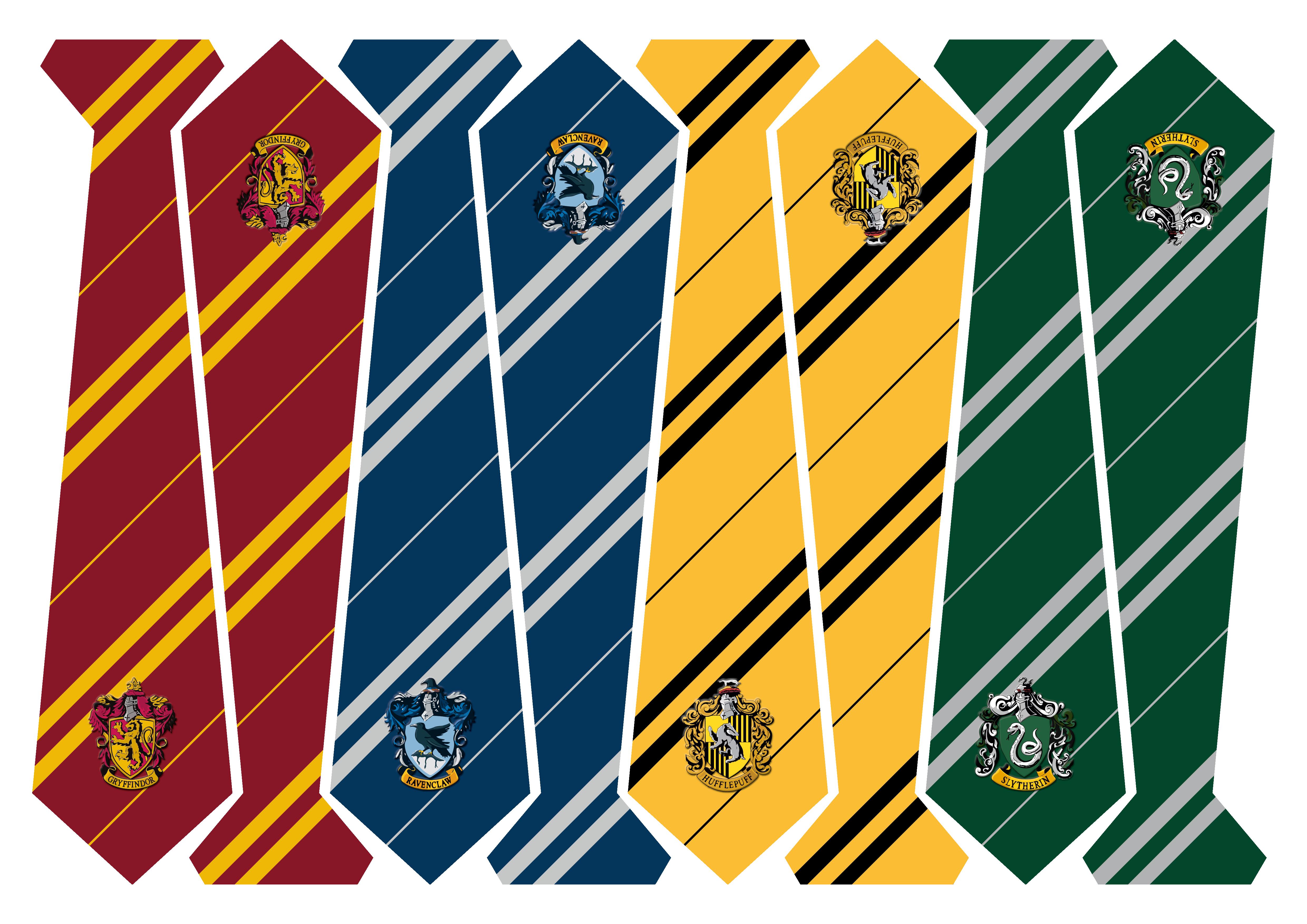 Harry-Potter Krawatten um Ausdrucken auf A3 | HOGWARTS FASHION by ...