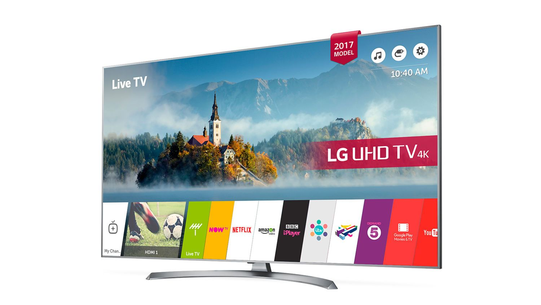 """lg tv led 55"""" 139cm 55uj750v pas cher prix promo téléviseur 4k rue"""