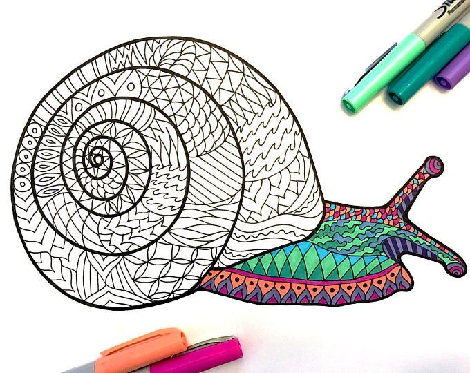 Asian Elephant - PDF Zentangle Coloring Page in 2020 ...