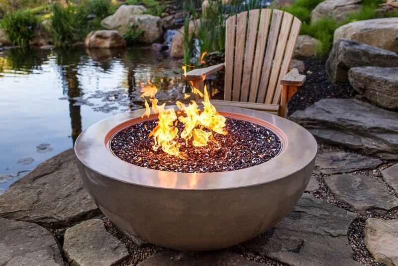 Concrete fire pit by JM LIfestyes | Fire pit, Concrete fire pits, Outdoor fire
