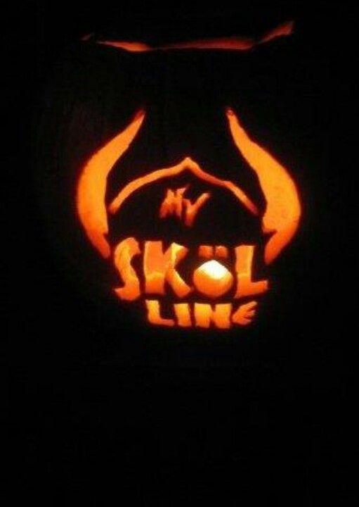 Someone pinned jay s pumpkin vikings skol line