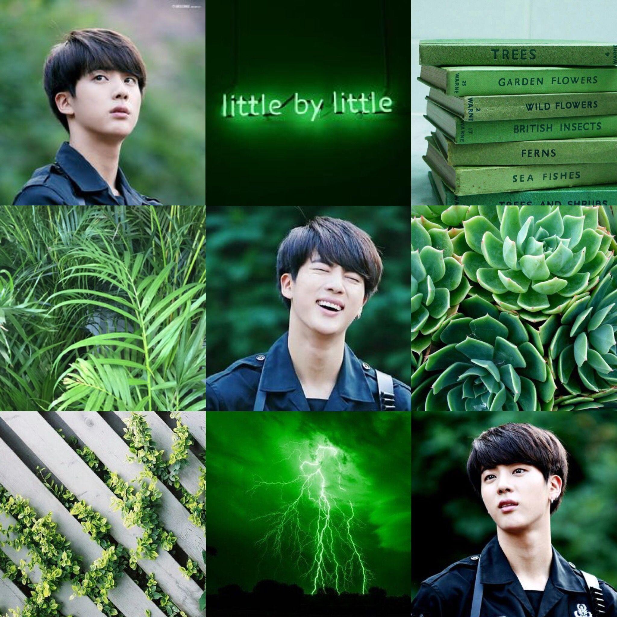 Jin Dark Green Aesthetic Hijau