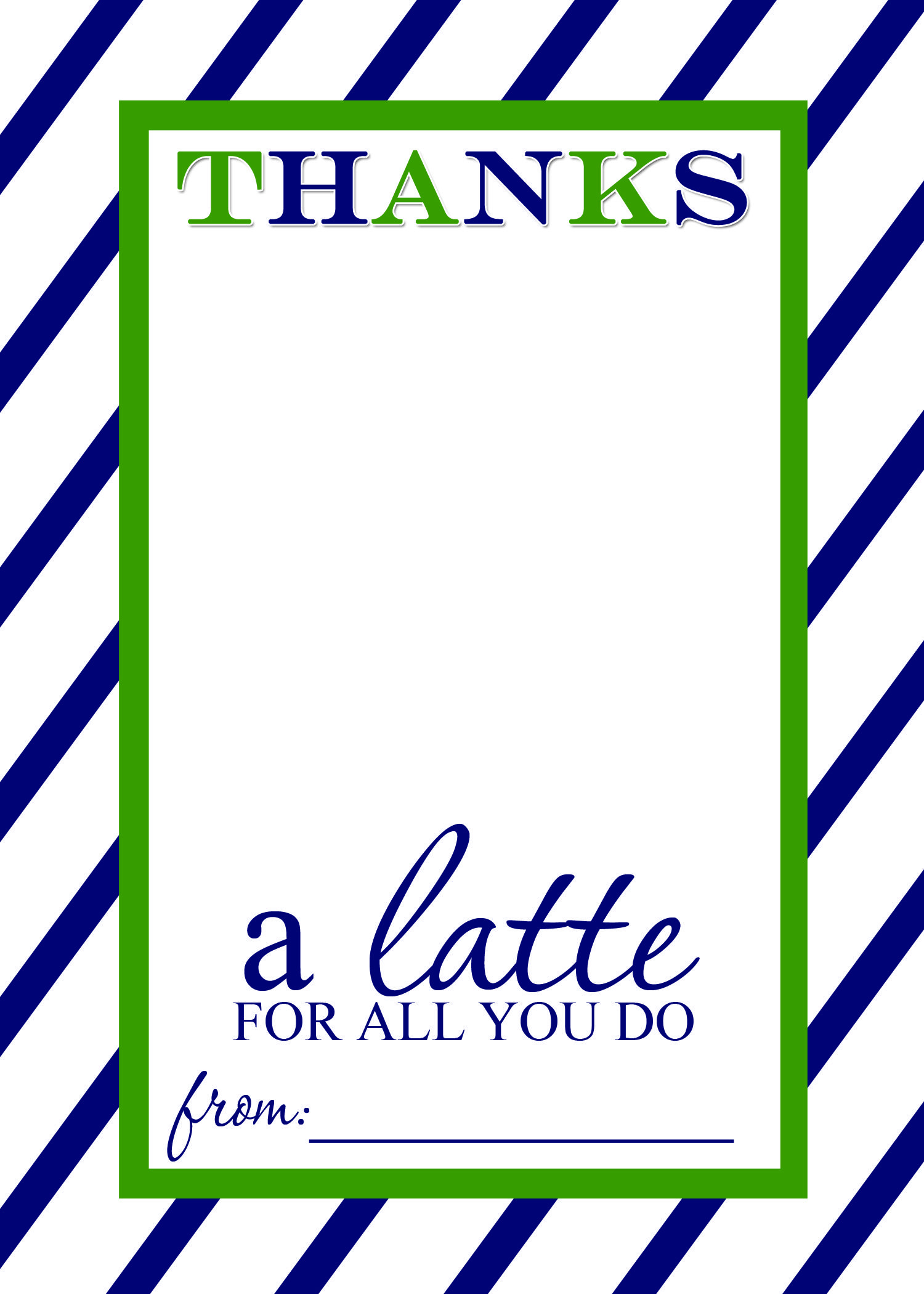 Thanks a Latte FREE Printable Gift Card Holder Teacher ...