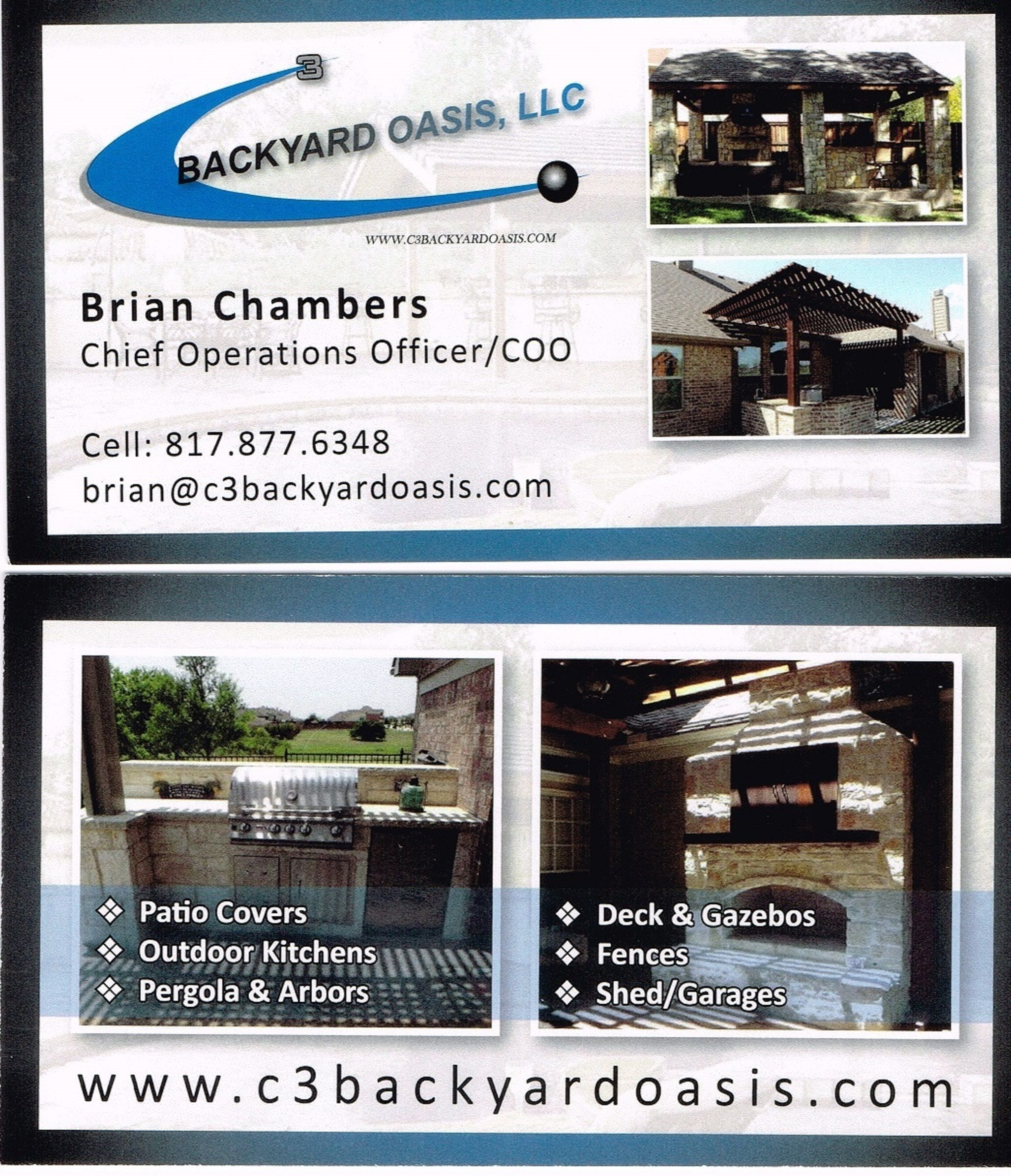 C3 Backyard Oasis Llc Cheif Officer Of Operations Brian S
