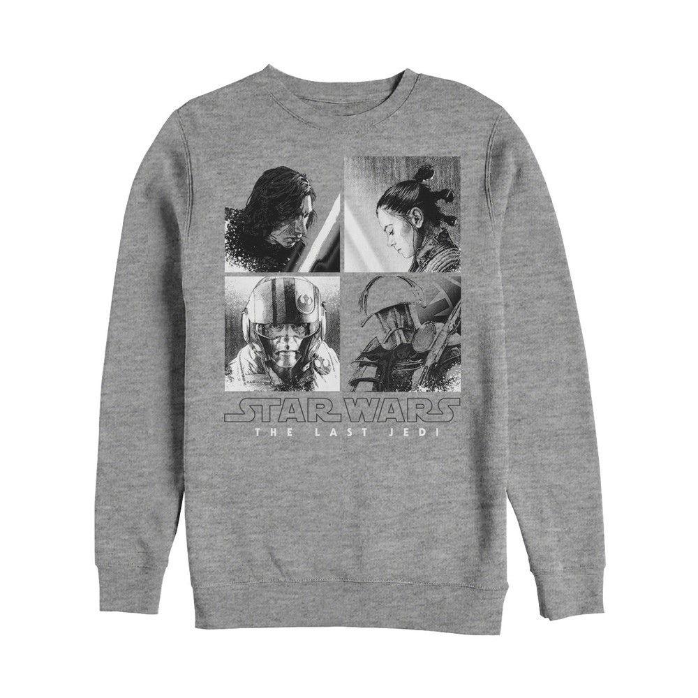 Star Wars The Last Jedi Rey Rebel Collage Mens Graphic T Shirt