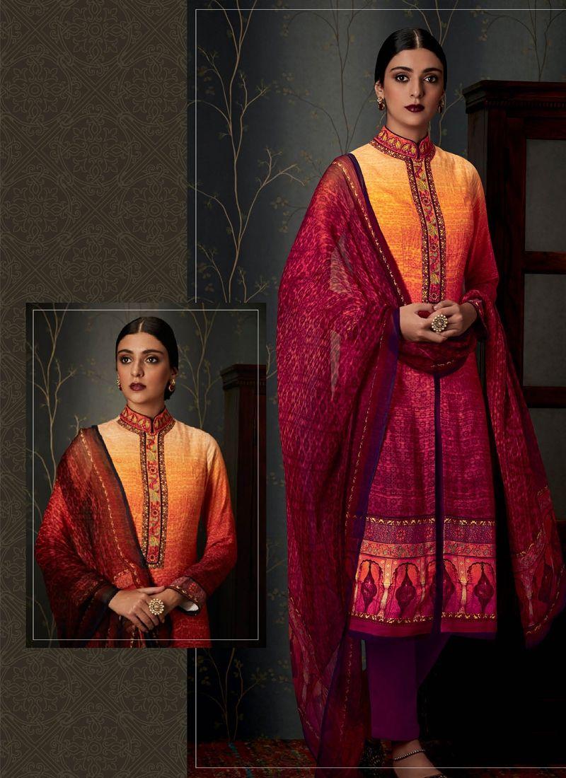 Buy exceptional pashmina designer straight salwar suit online