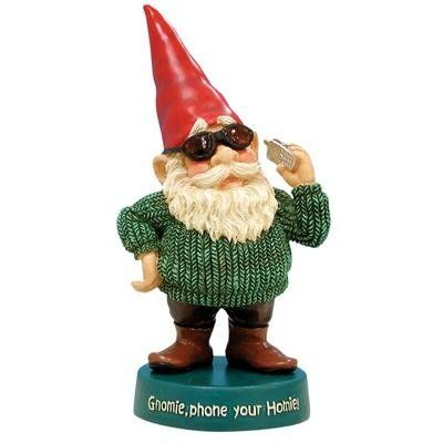 cheap garden gnomes. 5.25 Inch Gnome Wearing Red Hat And Sunglasses On Cell Phone Figurine | Cheap Garden Gnomes T