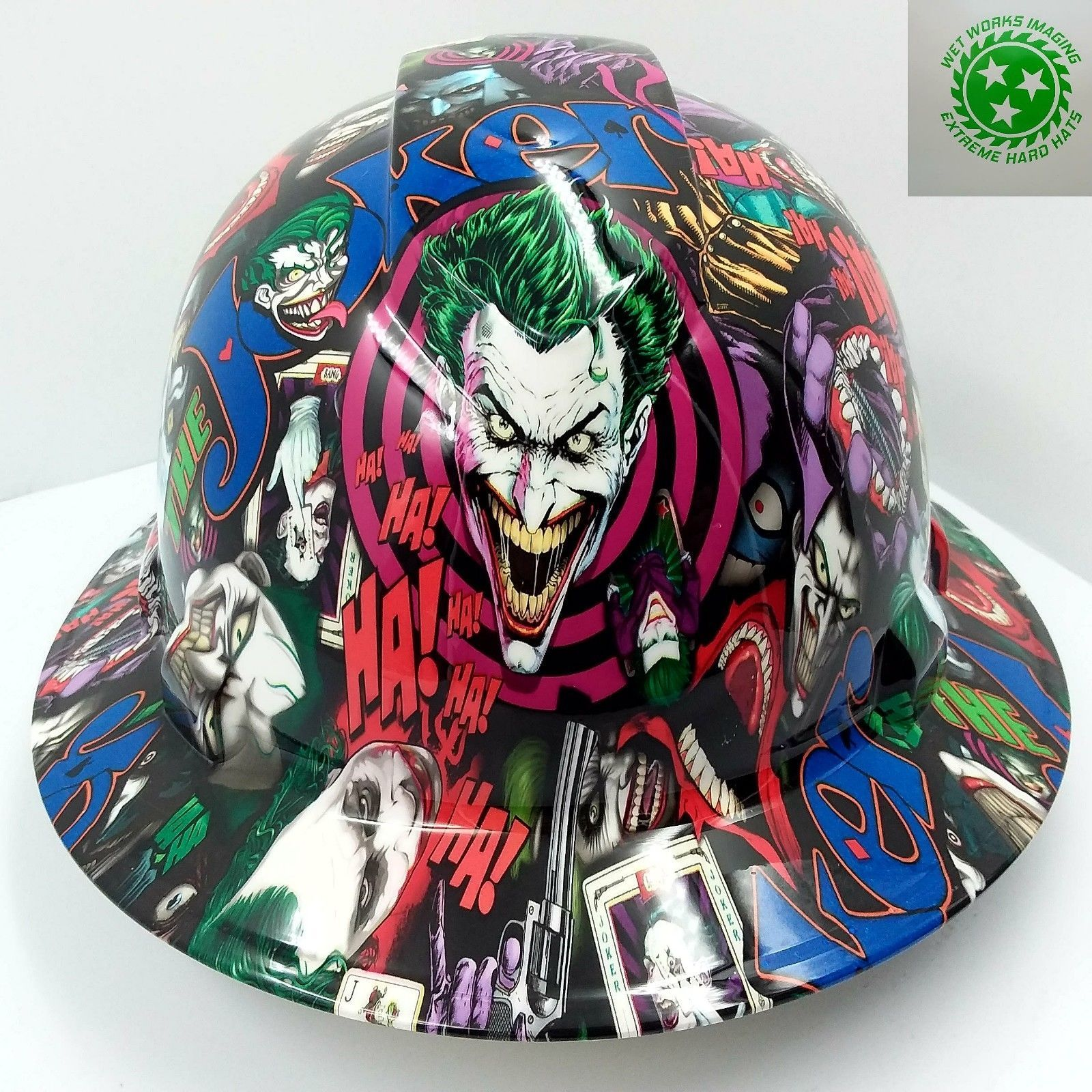 Details about FULL BRIM Hard Hat custom hydro dipped , NEW