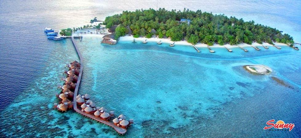 Aerial View Nika Island Resort And Spa Maldives 5 Star Hotel