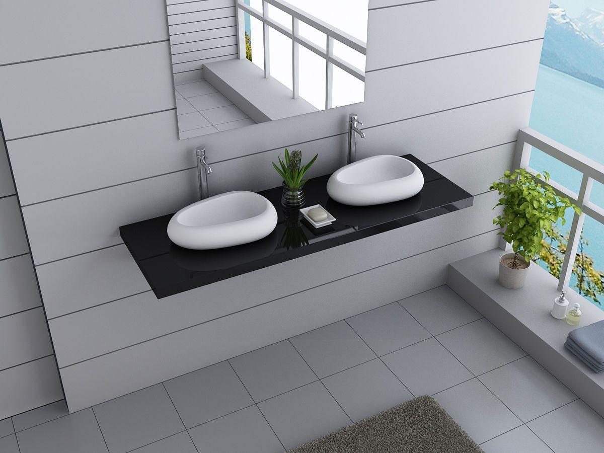 Details zu B-WARE Designer Badmöbel Waschbecken Waschtisch Keramik ...