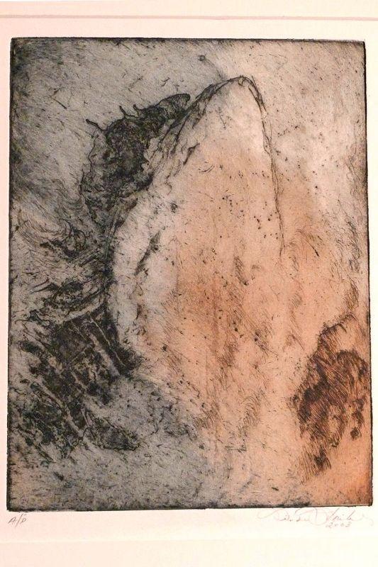 Linda Fribley- Breach, etching