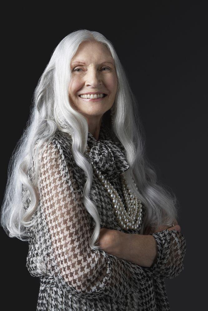 Older Women Long Grey Hair Google Search Long Gray