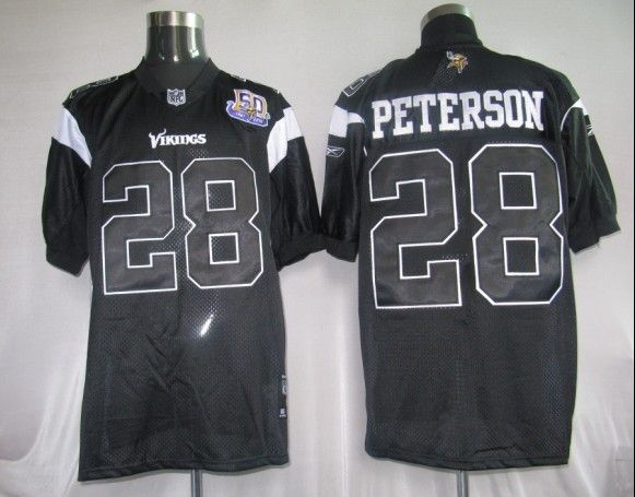 the latest 55489 20c10 $25.00 50Th Reebok NFL Jersey Minnesota Vikings Adrian ...
