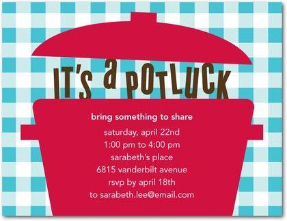 Love Potlucks Just Pick A Theme Potluck Invitation Party