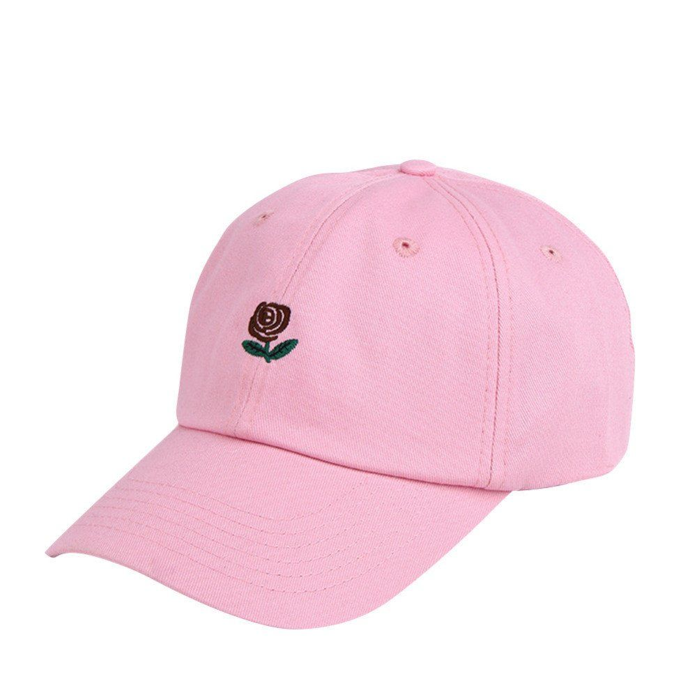 483cab65 Dad Hat With Embroidered Rose Design | Fashion