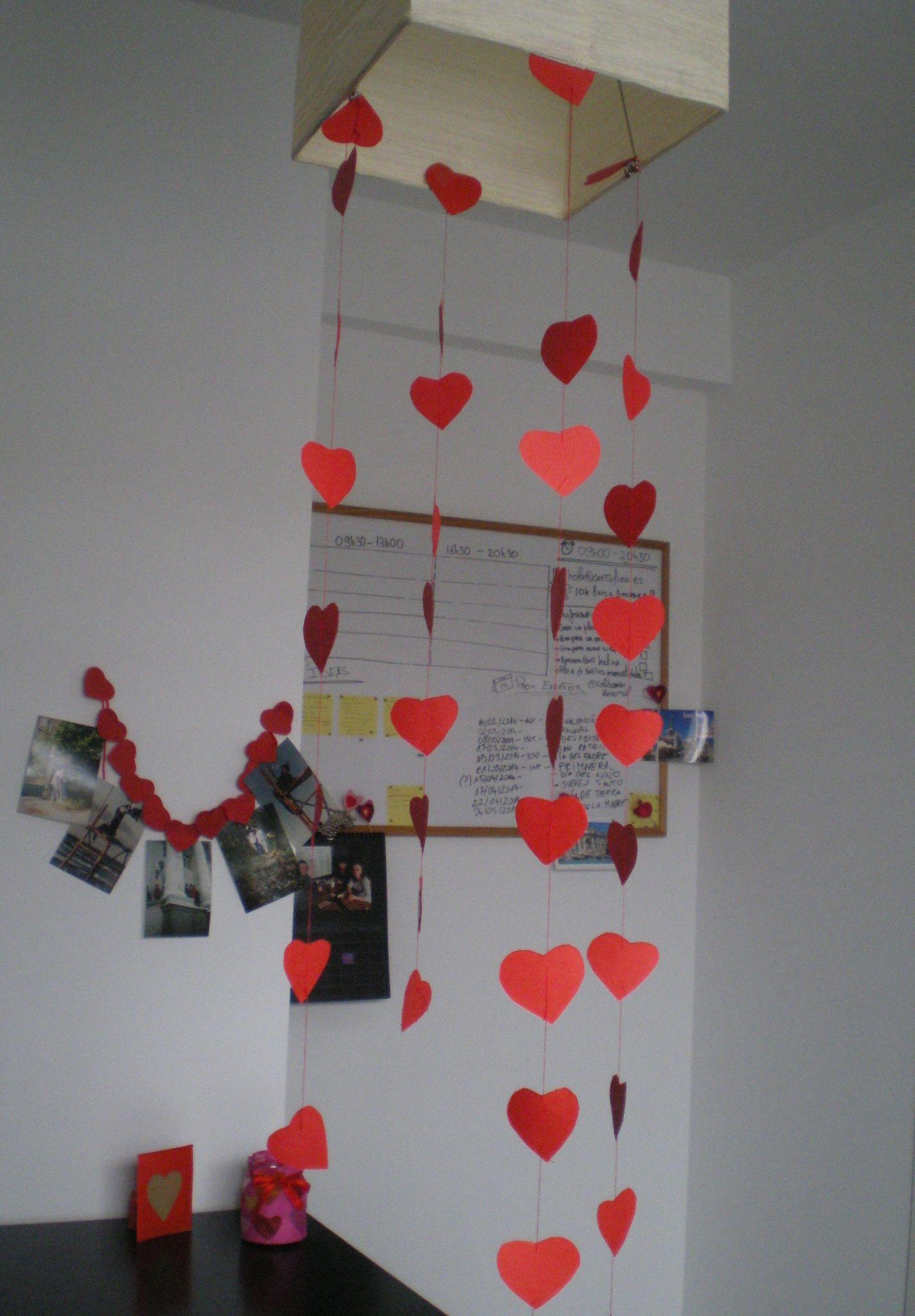 Http Cartulina Es Detalles Romanticos Guirnalda Para San  ~ Detalles Con Fotos Para Regalar