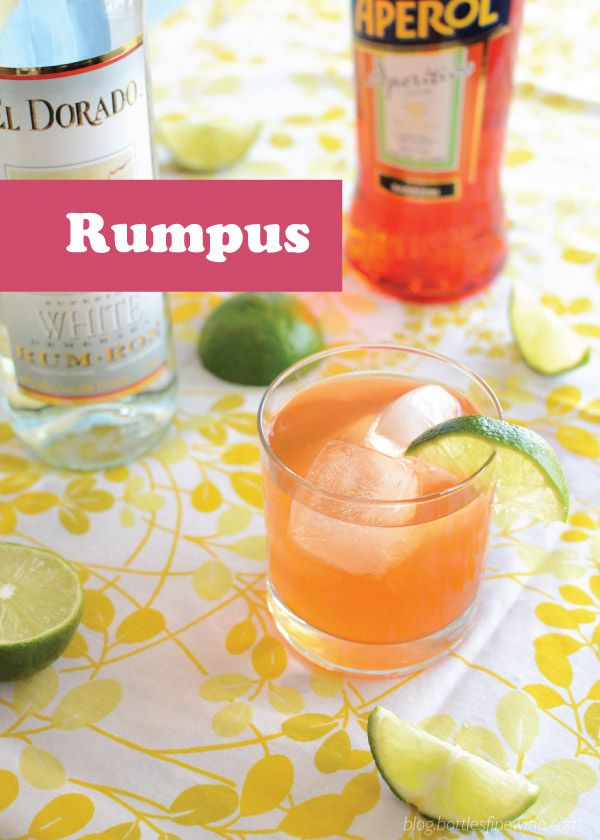 Rumpus cocktail white rum aperol and fresh lime juice for Mixed drinks with white rum