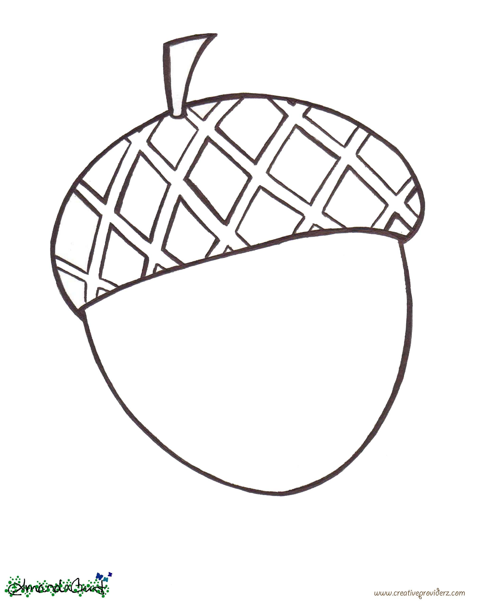 acorn coloring pages - creative providerz alphabet a coloring sheets