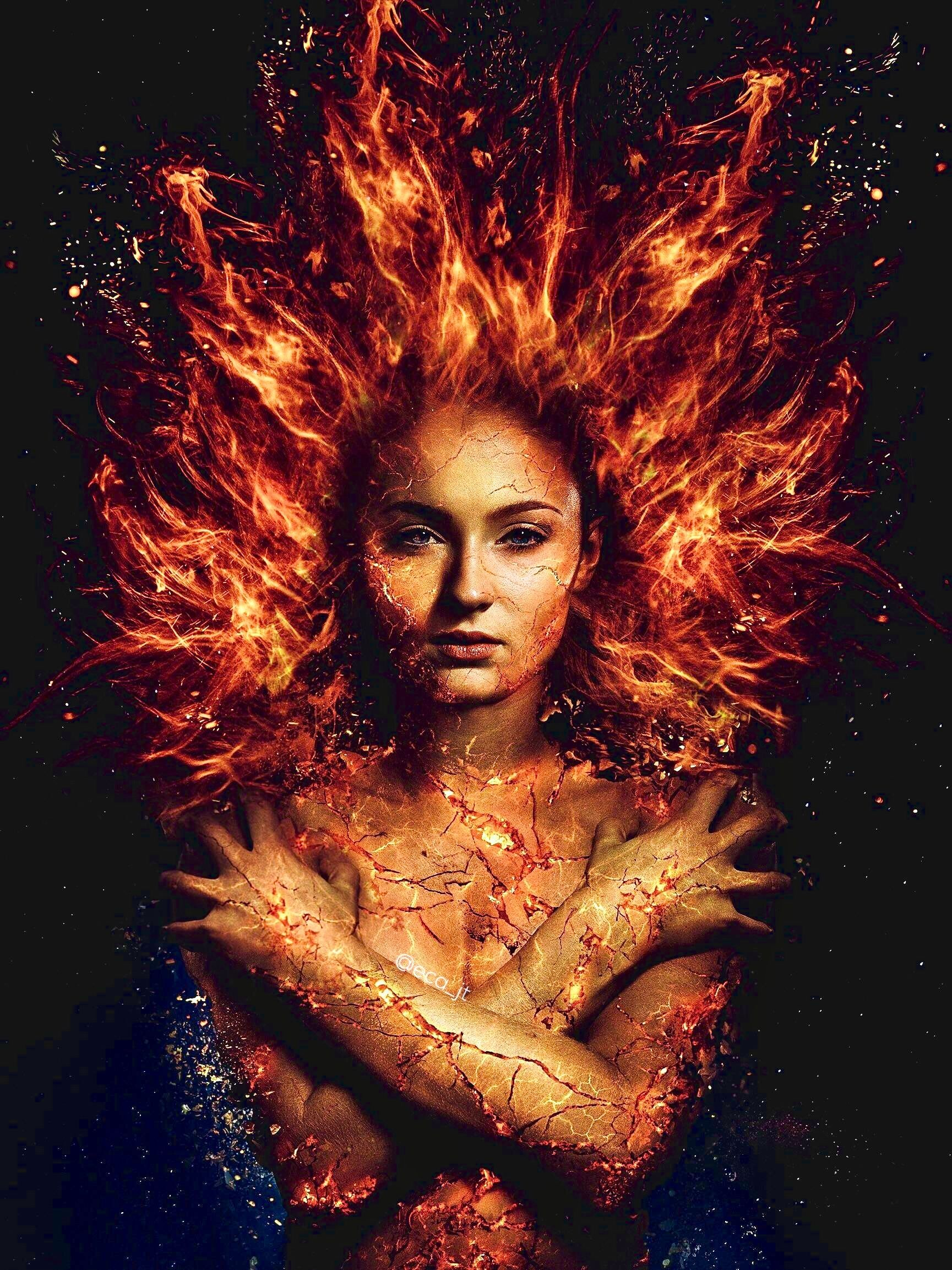 Sophie Turner As Jean Grey In X Men Dark Phoenix Jean Grey Phoenix Dark Phoenix Marvel Jean Grey