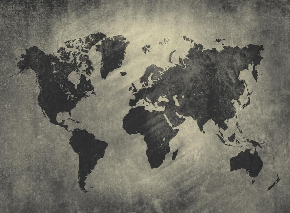 Numrart world map graphite color love nest pinterest graphite vintage world map wallpaper printed to size gumiabroncs Images