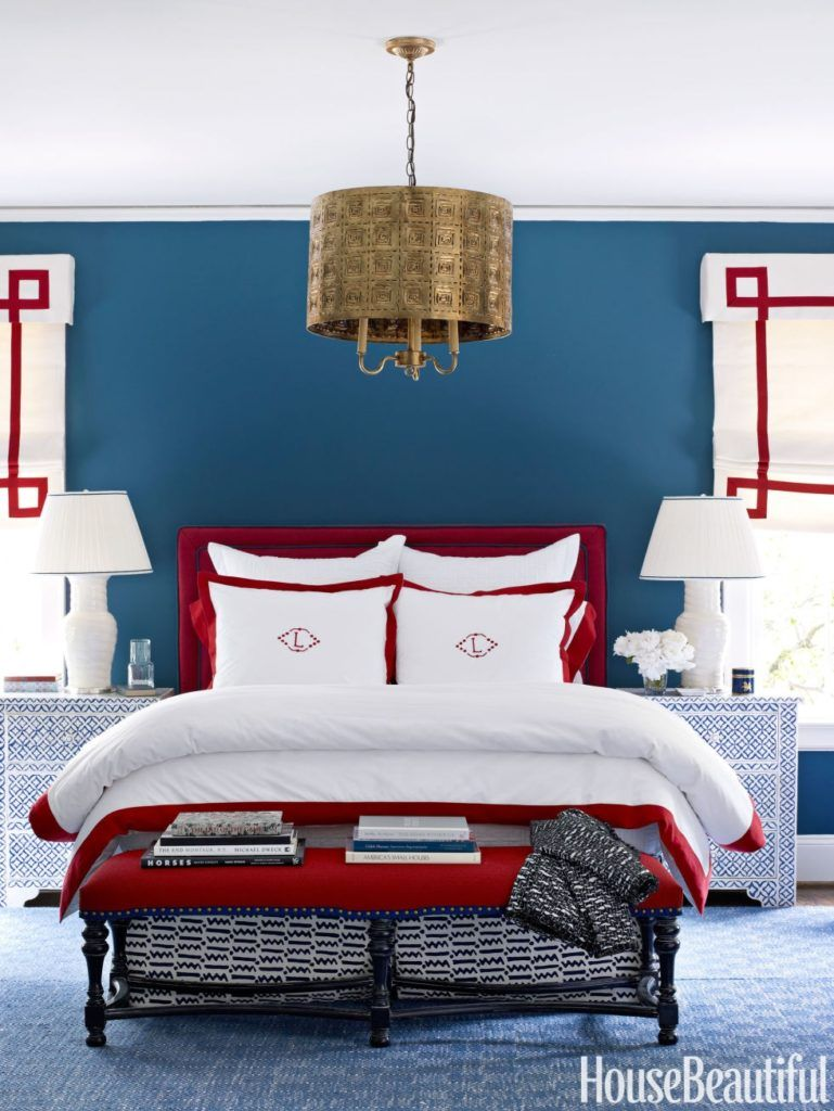 Red White Blue Bedroom Bedrooms Pinterest Blue Bedrooms Red