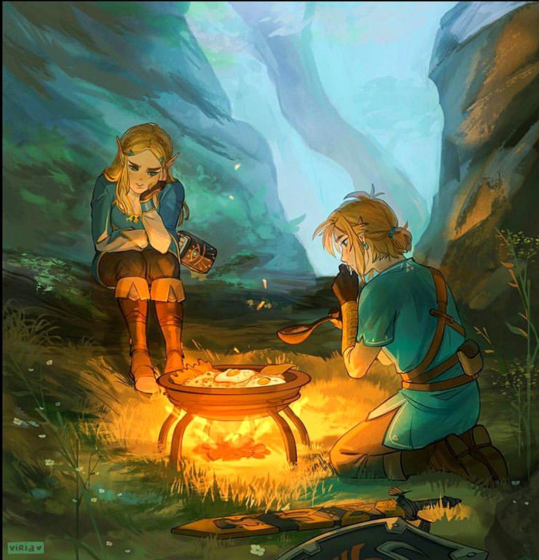 Zelda And Link By Viria94 Ig Legend Of Zelda Breath Legend Of Zelda Breath Of The Wild