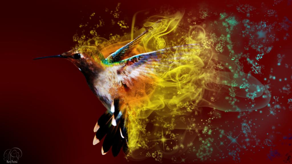 Humming Bird Art