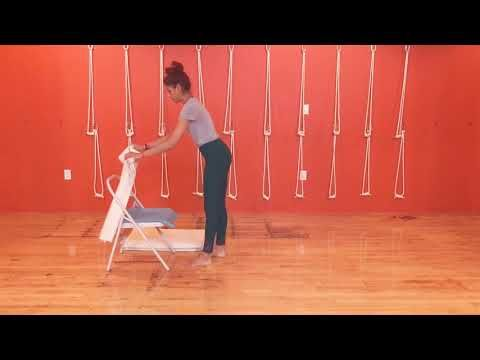 iyengar yoga how to do chair shoulder stand  youtube