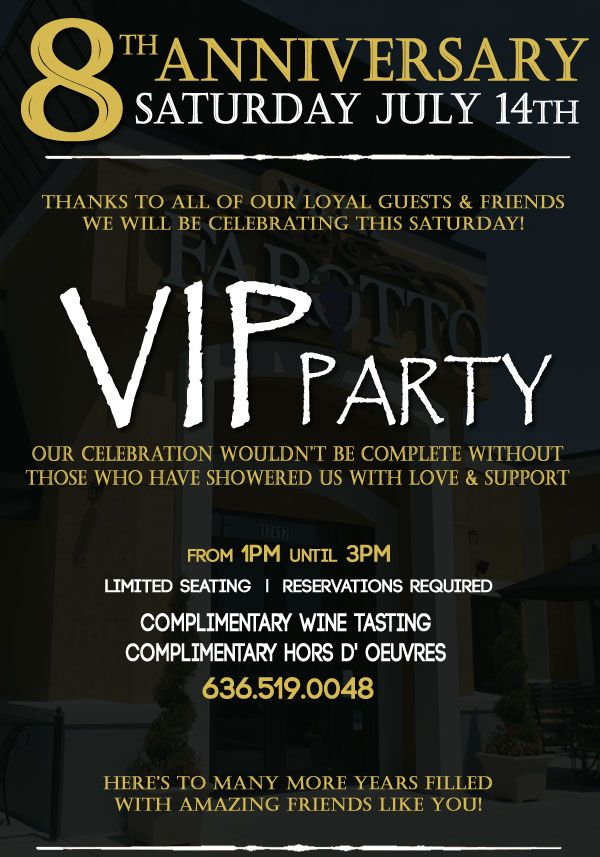 Promotions L Happy Hour L Live Music Anniversary Party