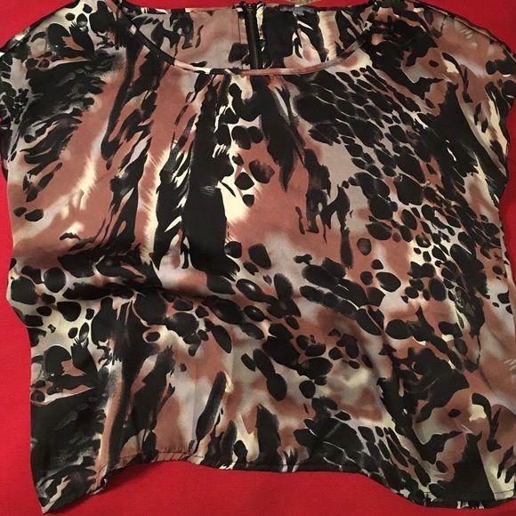 Animal print shirt Silk, short sleeved, animal print shirt. Charlotte Russe Tops Blouses