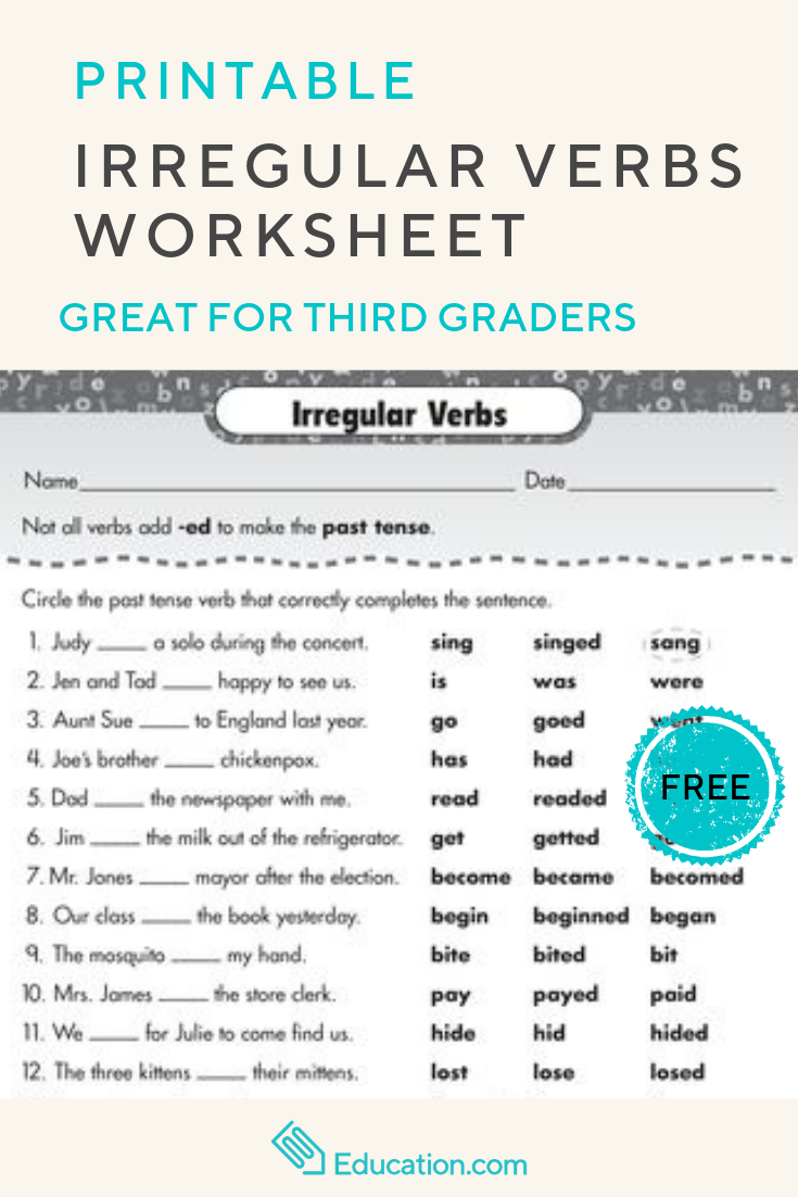 Use This Irregular Verbs Worksheet To Give Your Child Some Irregular Verbs Exercises That Will Help Develop Gram Verb Worksheets Irregular Verbs Grammar Skills [ 1102 x 735 Pixel ]