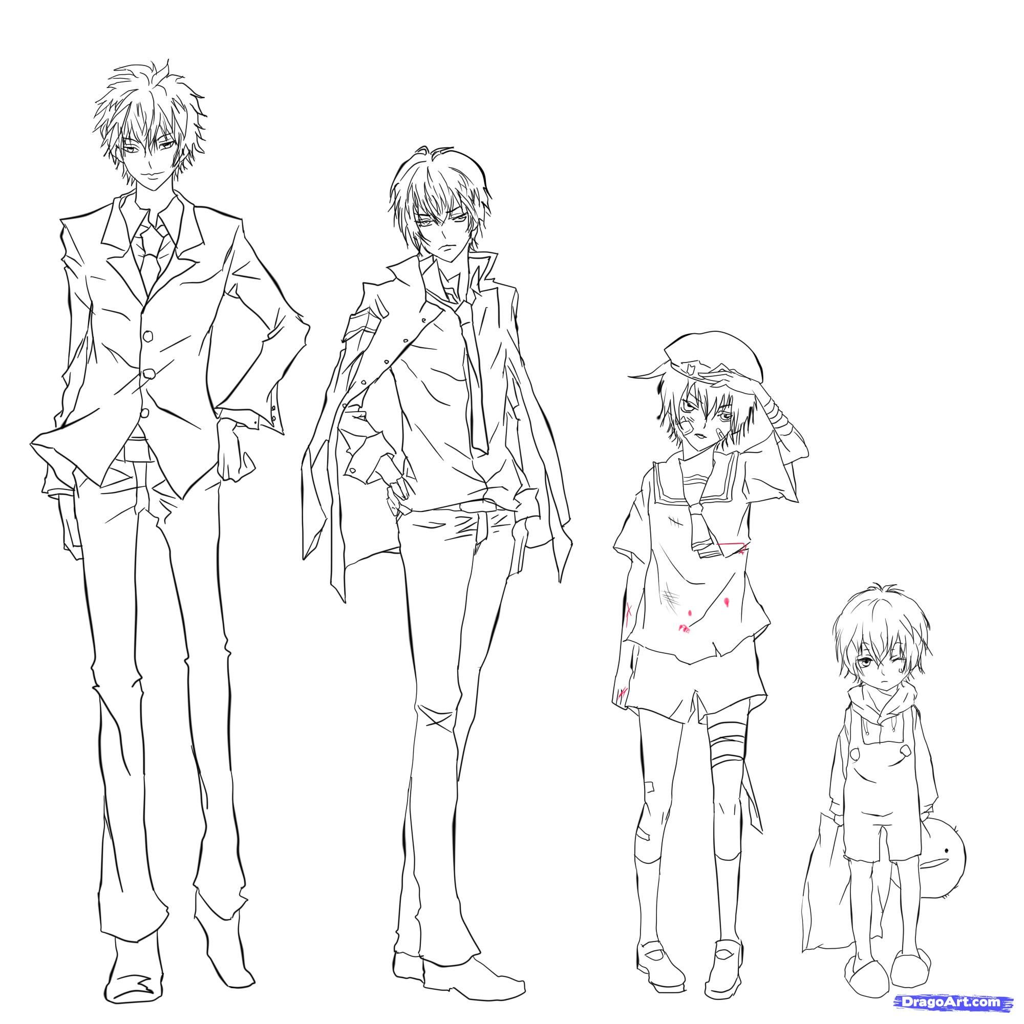 Little Anime Boy Full Body  Extravital Fasion