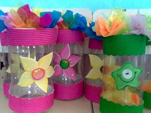 cotillones para ni os con material reciclable buscar con On decoracion de botellas plasticas para ninos