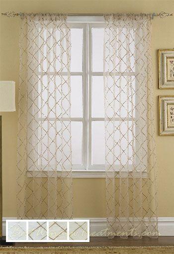 Liona Sheer Curtain Drapery Panels
