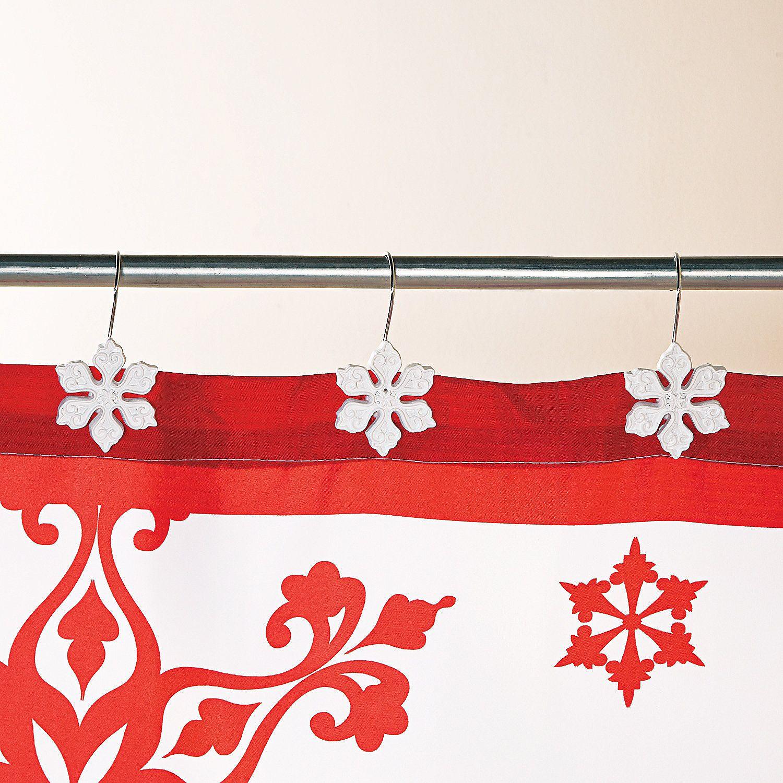 499 Holiday Snowflake Shower Hooks