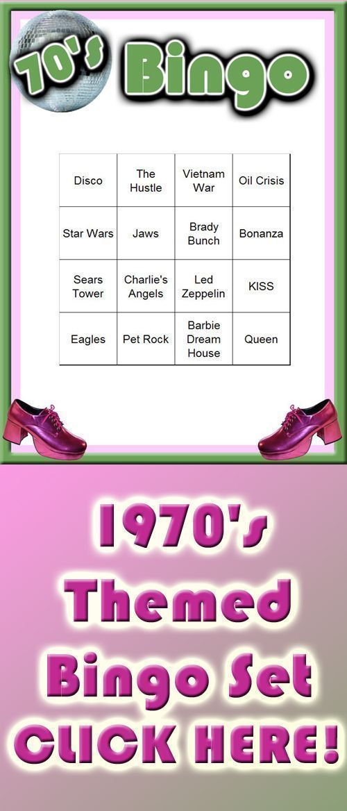 1970's Themed Bingo Set #70sthemeparties 70s themed Bingo set - fully downloadable and ready to play.  A great 70s party game for a fun 70s theme party! #70sthemeparties 1970's Themed Bingo Set #70sthemeparties 70s themed Bingo set - fully downloadable and ready to play.  A great 70s party game for a fun 70s theme party! #70sthemeparties 1970's Themed Bingo Set #70sthemeparties 70s themed Bingo set - fully downloadable and ready to play.  A great 70s party game for a fun 70s theme party! #70sthe #70sthemeparties