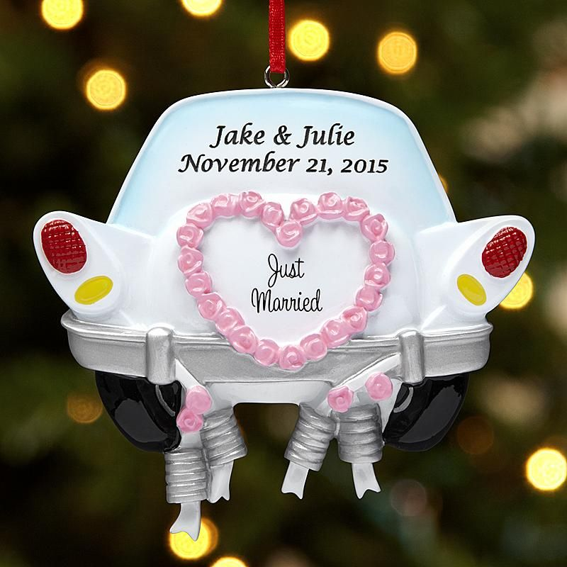 Just Married Ornament | Just married, Christmas ornaments ...