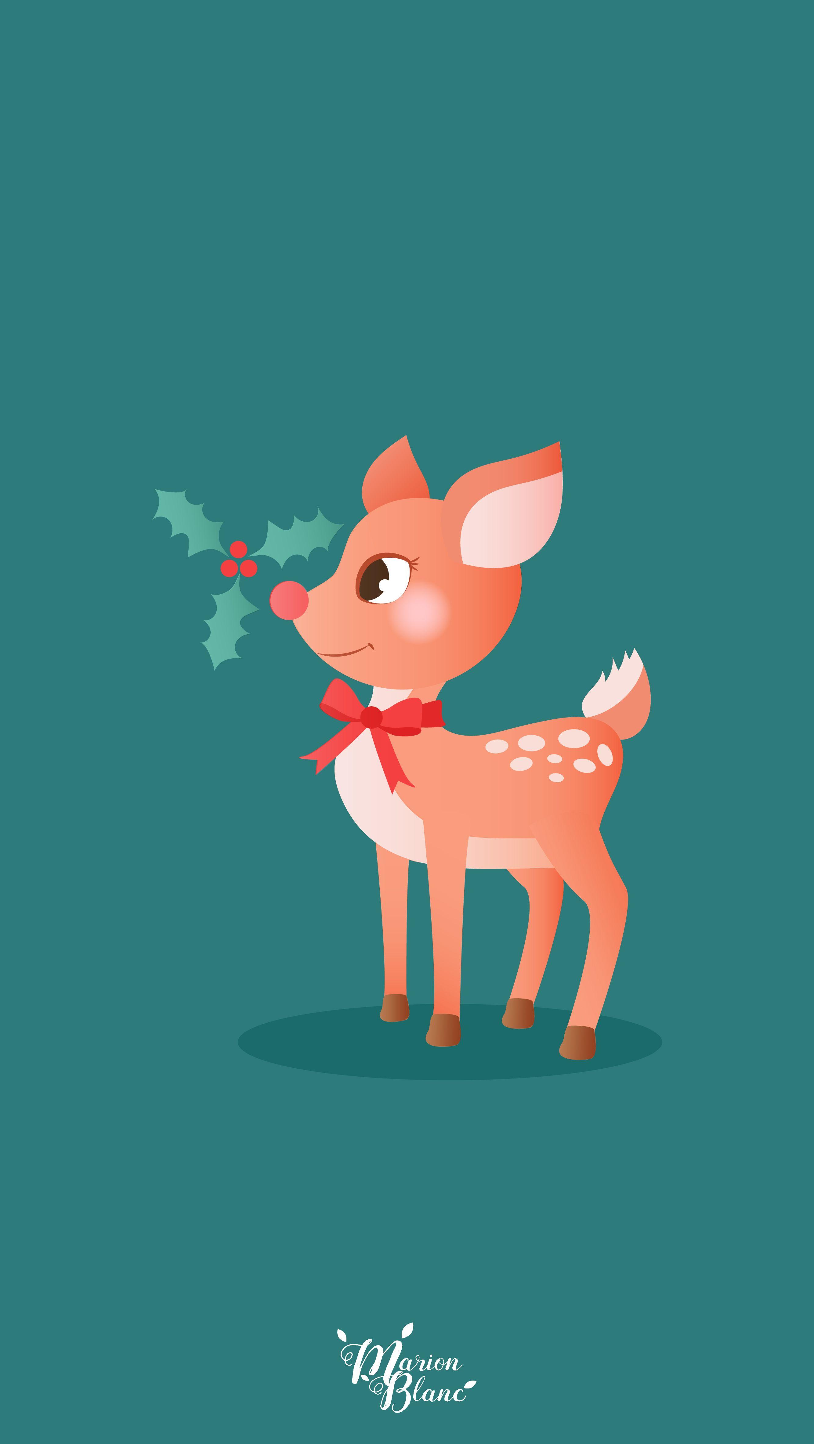 Christmas Deer Marion Blanc Christmas Wallpaper Cute Christmas Wallpaper Wallpaper Iphone Christmas